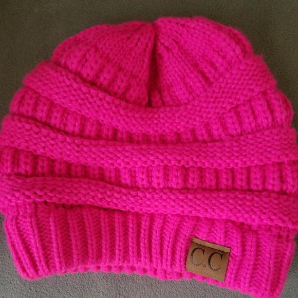 89d39230ad22b8 CC Boutique Accessories | Cc Beanie Hot Pink Adult Size | Poshmark